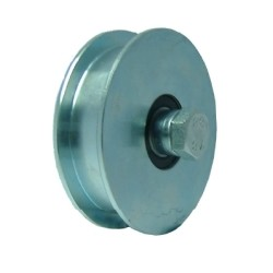 WHEELS WITH 2 BEARINGS GROOVE U 80