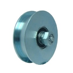 WHEELS HEAVY WITH 2 BEARINGS AND LUBRICATOR PINS GROOVE U 90