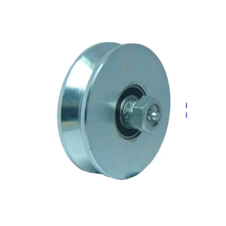 WHEELS HEAVY WITH 2 BEARINGS AND LUBRICATOR PINS GROOVE V 90